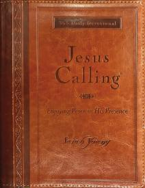 JESUS CALLING LARGE PRINT, Leather